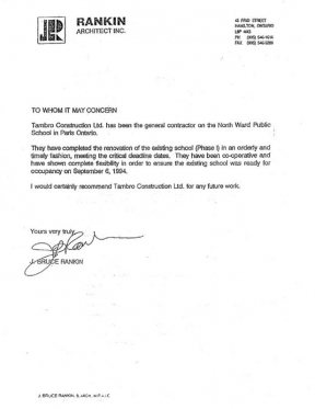 Letter Of Recommendation For General Contractor License